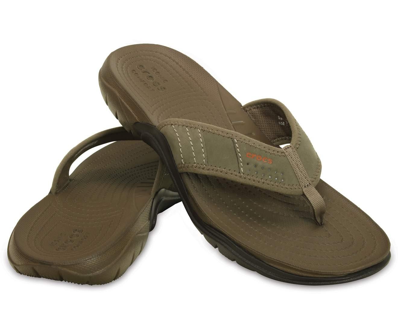 05e528b39421b9 Men Footwear   Crocs Swiftwater Flip Walnut  Espresso